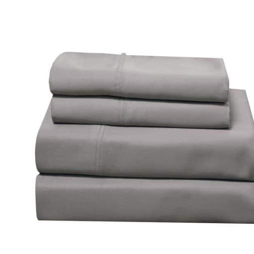 Gray - 100% Bamboo Viscose Sheet Set 600 Thread Count Collection by Abripedic
